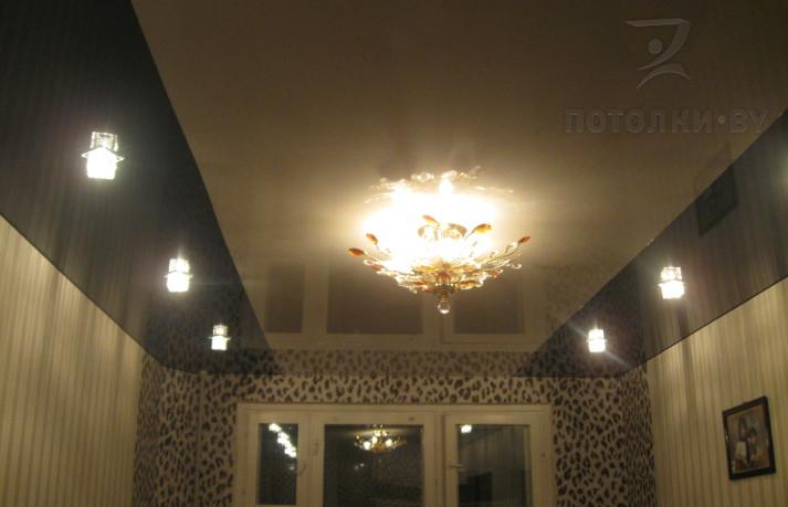 Потолки комбинированные из двух цветов